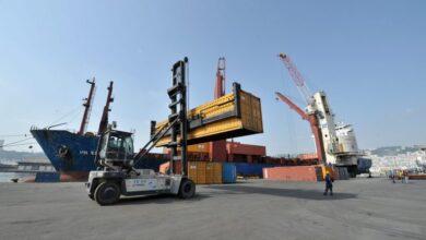 صورة إنطلاق أوّل رحلة لخط بحري موجه للتصدير بين الجزائر ونواكشوط