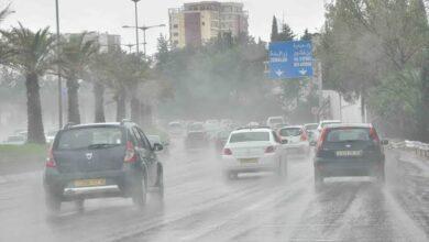 صورة أمطار غزيرة على 16 ولاية مساء اليوم