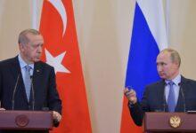 صورة أردوغان لبوتين: يجب بحث إمكانية إرسال قوات دولية لحماية الفلسطينيين