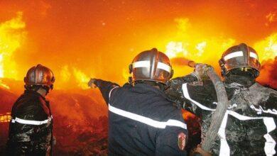 صورة الحماية المدنية: إخماد 30 حريقا خلال 24 ساعة