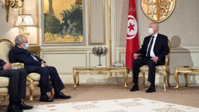 صورة سلَم قيس سعيد رسالة.. لعمامرة يختتم زيارته إلى تونس