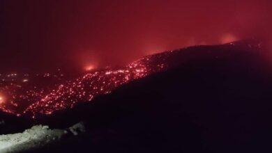 صورة اندلاع عدة حرائق على مستوى بلديتي بني عمران وتيجلابين