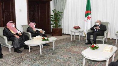 صورة رئيس الجمهورية يستقبل وزير الخارجية السعودي وهذا ما دار بينهما