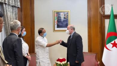 صورة الوزير الأول يستقبل وزير خارجية الهند